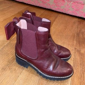RED Valentino Maroon Boots